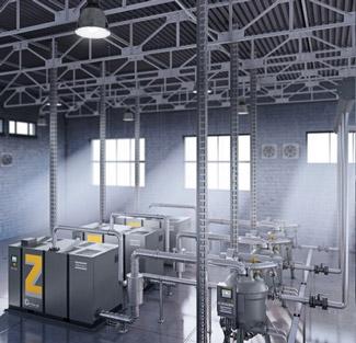 Ölfrei verdichtende ZE und ZA (VSD) Niederdruck Schraubenkompressoren