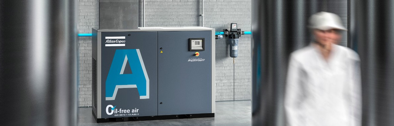 Wassereingespritze Schraubenkompressoren Baureihe AQ